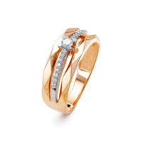 Кольцо золото, бриллиант арт. 3588-110