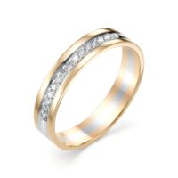 Кольцо обручальное золото, бриллиант арт. 922-110