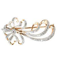 Брошь золото бриллианты