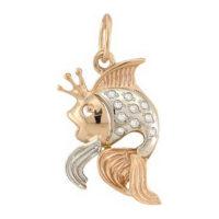 Подвеска из золота Золотая рыбка