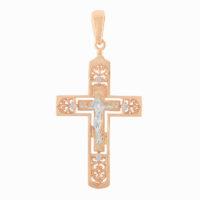 Подвеска золото крест 1030250
