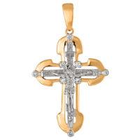 Подвеска золото крест 1030256