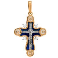 Подвеска золото крест 1030266
