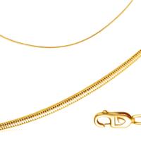 Цепь из желтого золота, плетение панцирное, арт. 51035016045