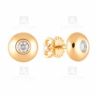 Серьги золото 1021261