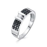 """Кольцо из белого золота с бриллиантом можно купить в нашем ювелирном магазине в Серпухове в ТЦ """"Дисконт"""""""