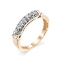 Кольцо из красного золота с бриллиантами, арт. 498-110