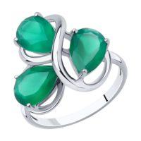 Кольцо из серебра с агатами, арт. 94-310-00439-1