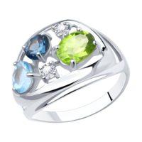 Кольцо из серебра с миксом камней, арт. 94-310-00660-1