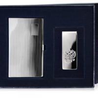 Набор серебряная визитница и зажим для купюр «Герб» купить в Серпухове
